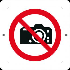 Targa in Plex Quadrata - Divieto - Vietato fotografare