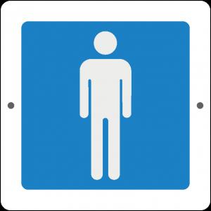 Targa in Plex Quadrata - Servizio - Bagno uomo