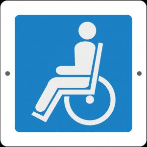 Targa in Plex Quadrata - Servizio - Bagno disabili