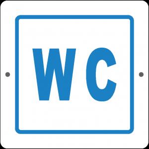 Targa in Plex Quadrata - Servizio - Bagno WC