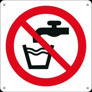 Vietato bere acqua non potabile quadrato