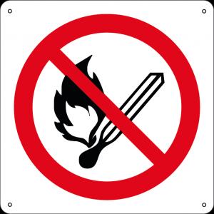 Vietato fumare e usare fiamme libere quadrato