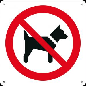 Vietato l'accesso ai cani quadrato