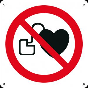 Vietato l'accesso ai portatori di stimolatori cardiaci attivi quadrato