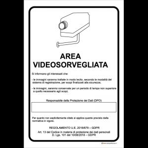 Area videosorvegliata - Si informano gli interessati che [...]