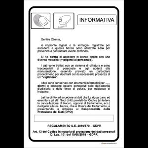 Informativa - art. 13 del codice in materia di protezione dei dati personali