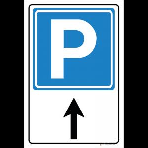 Parcheggio freccia dritto