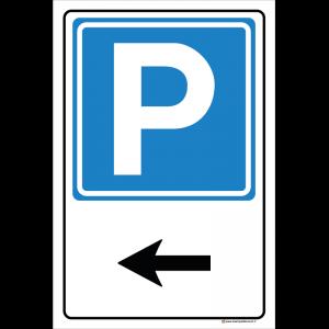 Parcheggio freccia sinistra