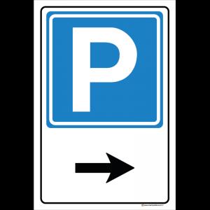 Parcheggio freccia destra