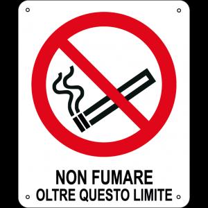 Non fumare oltre questo limite verticale