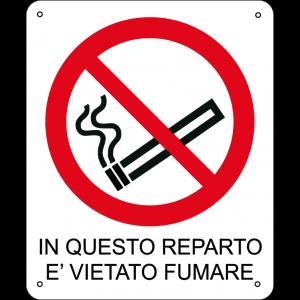 In questo reparto è vietato fumare verticale