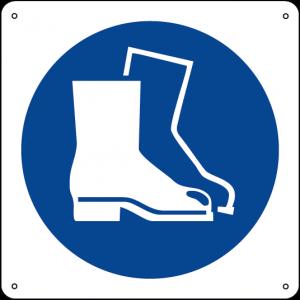 Obbligatorio indossare le calzature di sicurezza quadrato