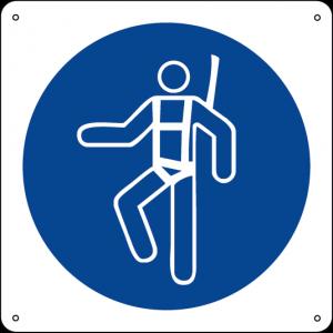 Obbligatorio indossare l'imbracatura di sicurezza quadrato