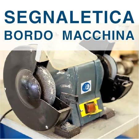 Segnaletica Bordo Macchina